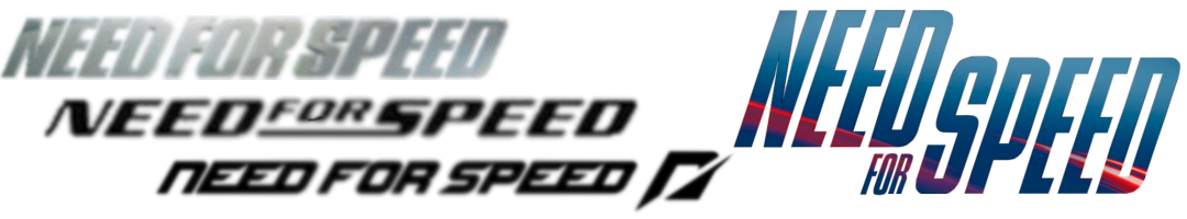 Need for Speed logos throughout the years